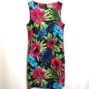 AGB Tropical Hawaiian Floral Dress Size 10